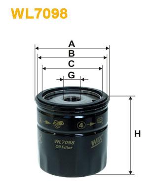 Filtre a huile WIX FILTERS WL7098 (X1)