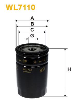 Filtre a huile WIX FILTERS WL7110 (X1)