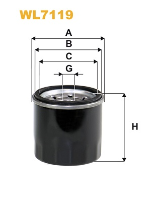 Filtre a huile WIX FILTERS WL7119 (X1)