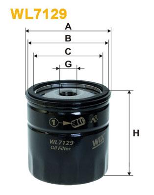 Filtre a huile WIX FILTERS WL7129 (X1)