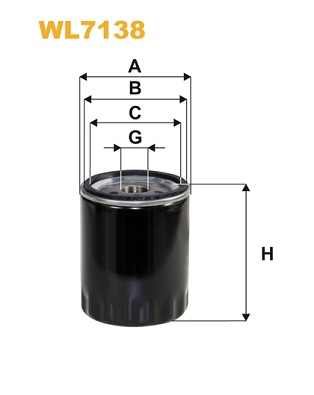 Filtre a huile WIX FILTERS WL7138 (X1)
