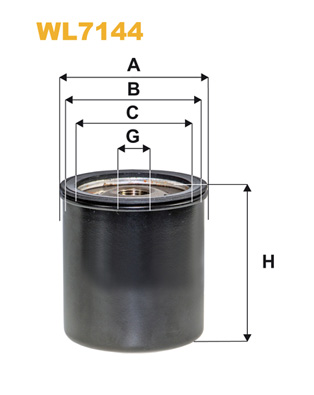 Filtre a huile WIX FILTERS WL7144 (X1)