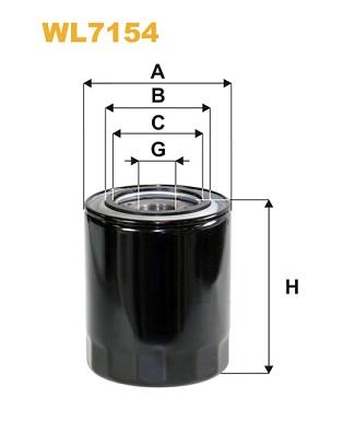 Filtre a huile WIX FILTERS WL7154 (X1)