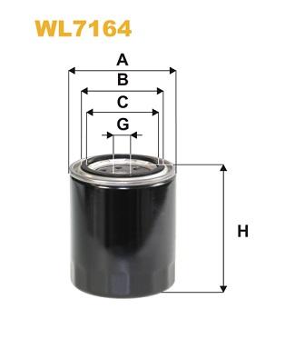 Filtre a huile WIX FILTERS WL7164 (X1)