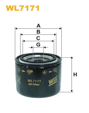 Filtre a huile WIX FILTERS WL7171 (X1)