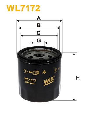 Filtre a huile WIX FILTERS WL7172 (X1)