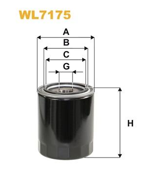 Filtre a huile WIX FILTERS WL7175 (X1)