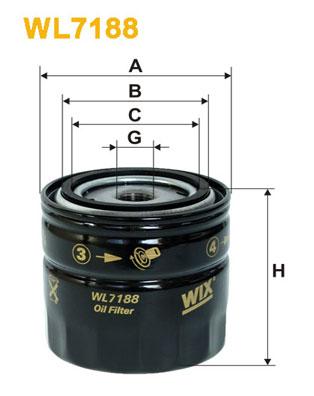 Filtre a huile WIX FILTERS WL7188 (X1)