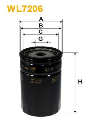 Filtre a huile WIX FILTERS WL7206 (X1)