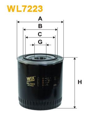 Filtre a huile WIX FILTERS WL7223 (X1)