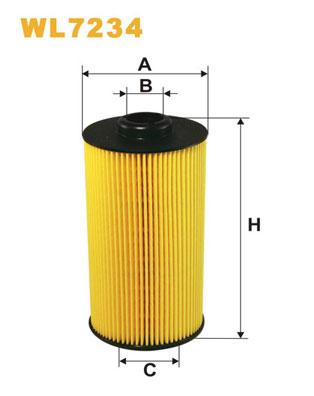 Filtre a huile WIX FILTERS WL7234 (X1)
