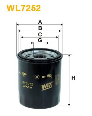 Filtre a huile WIX FILTERS WL7252 (X1)