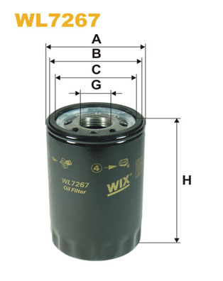 Filtre a huile WIX FILTERS WL7267 (X1)