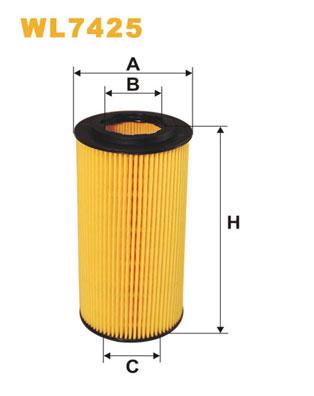 Filtre a huile WIX FILTERS WL7425 (X1)