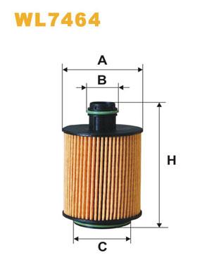 Filtre a huile WIX FILTERS WL7464 (X1)