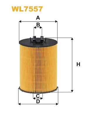 Filtre a huile WIX FILTERS WL7557 (X1)