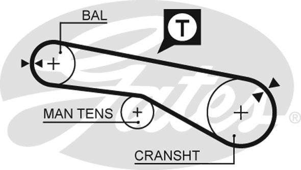 Courroie de distribution GATES 5257XS (X1)