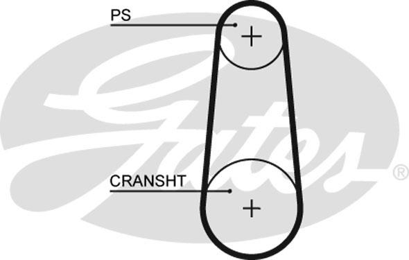 Courroie de distribution GATES 5383XS (X1)