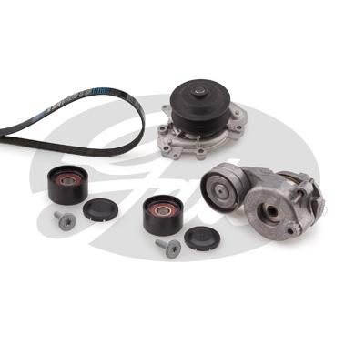 Pompe à eau + jeu de courroie d'accessoires GATES KP17PK2035-2 (X1)