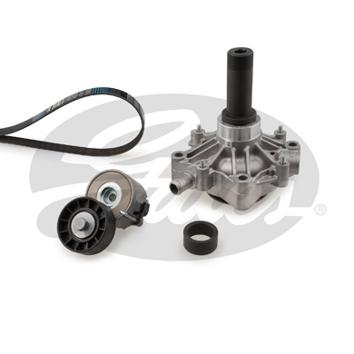 Pompe à eau + jeu de courroie d'accessoires GATES KP56PK1218 (X1)