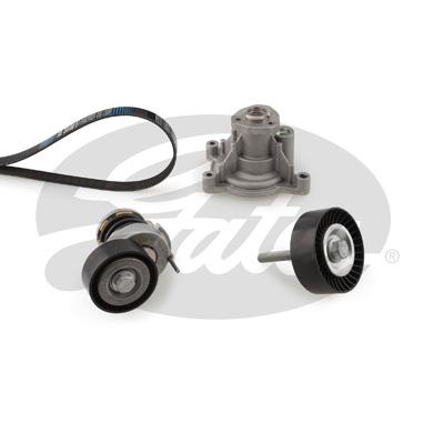 Pompe à eau + jeu de courroie d'accessoires GATES KP76PK1735 (X1)
