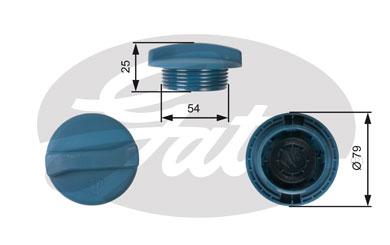 Bouchon, reservoir de liquide de refroidissement GATES RC205 (X1)