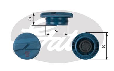 Bouchon, reservoir de liquide de refroidissement GATES RC234 (X1)