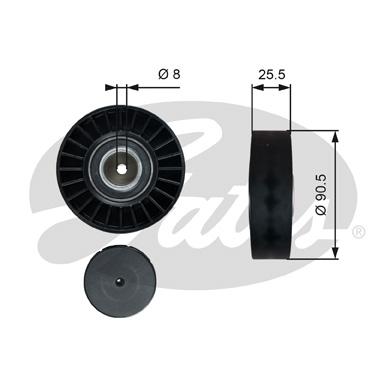 Galet enrouleur accessoires GATES T36005 (X1)