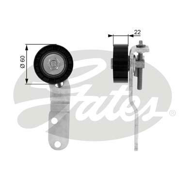 Galet enrouleur accessoires GATES T36074 (X1)
