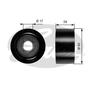 Galet enrouleur accessoires GATES T36084 (X1)