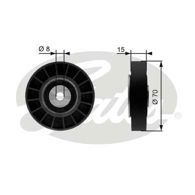 Galet enrouleur accessoires GATES T36214 (X1)