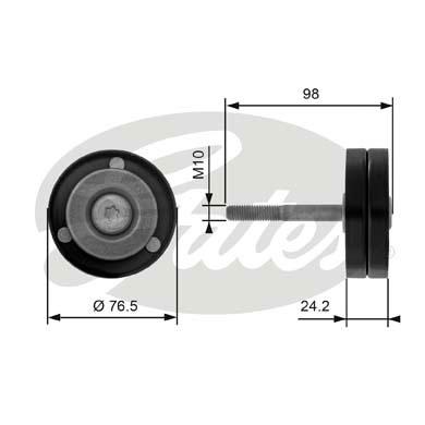 Galet enrouleur accessoires GATES T36232 (X1)
