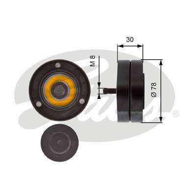 Galet enrouleur accessoires GATES T36236 (X1)