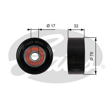 Galet enrouleur accessoires GATES T36253 (X1)