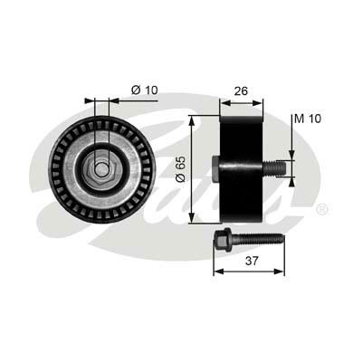 Galet enrouleur accessoires GATES T36300 (X1)