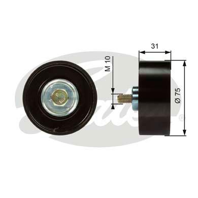 Galet enrouleur accessoires GATES T36306 (X1)