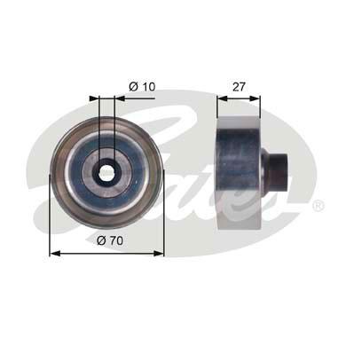 Galet enrouleur accessoires GATES T36361 (X1)
