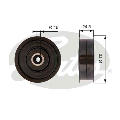 Galet enrouleur accessoires GATES T36372 (X1)
