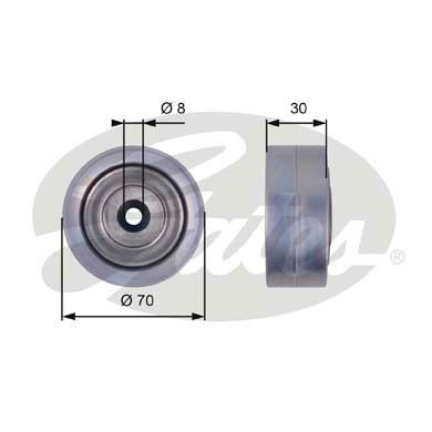 Galet enrouleur accessoires GATES T36386 (X1)