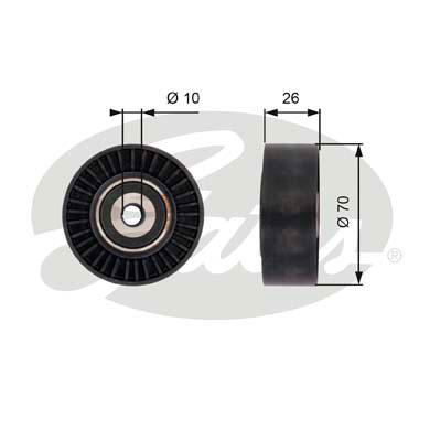 Galet enrouleur accessoires GATES T36393 (X1)