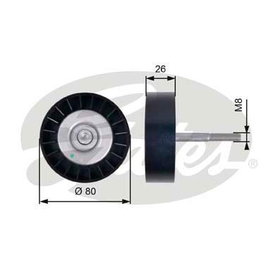 Galet enrouleur accessoires GATES T36399 (X1)