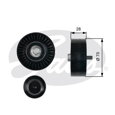 Galet enrouleur accessoires GATES T36430 (X1)