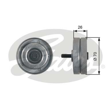 Galet enrouleur accessoires GATES T36466 (X1)