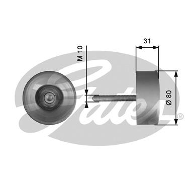Galet enrouleur accessoires GATES T36538 (X1)