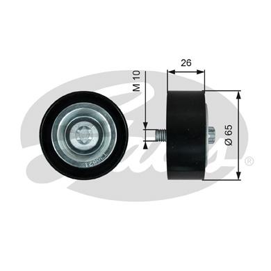 Galet enrouleur accessoires GATES T36621 (X1)