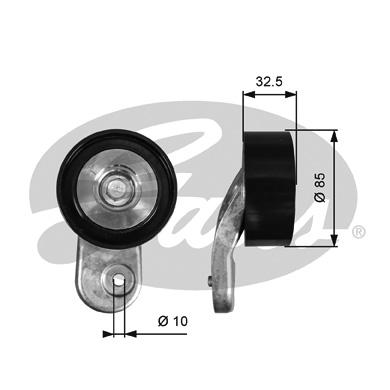 Galet enrouleur accessoires GATES T36643 (X1)
