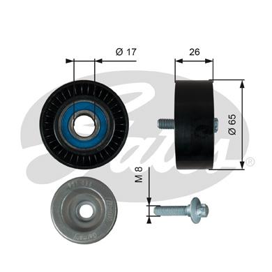 Galet enrouleur accessoires GATES T36764 (X1)