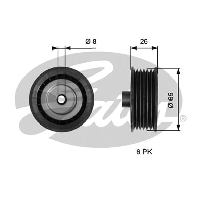 Galet enrouleur accessoires GATES T36776 (X1)