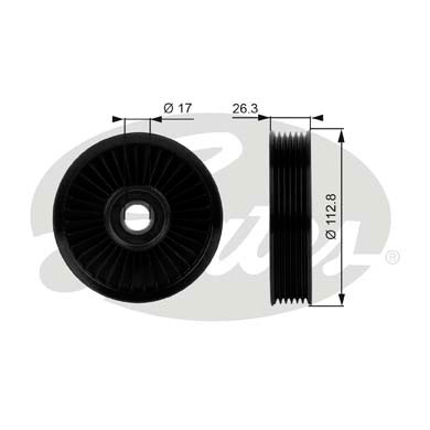 Galet enrouleur accessoires GATES T38024 (X1)