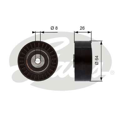 Galet enrouleur accessoires GATES T38094 (X1)